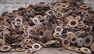Recycled metal parts used for melting